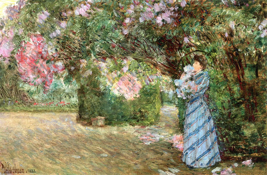 Mrs. Hassam at Villiers-le-Bel by Frederick Childe Hassam - 1888