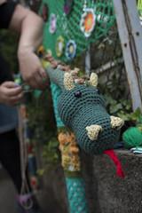 Yarn bombing Besançon 44