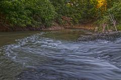 Water Flowing Into Waxahachie Creek
