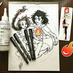 Featured artist: @sassycatx . We ship to the USA and Canada only. All USA orders over $25 qualify for free shipping. . www.otakufuel.com . #copicmarkerstore #copicart #drawing #draw #art #sketch #sketching #copicartist #copic #copicmarkers #copicsketch #c