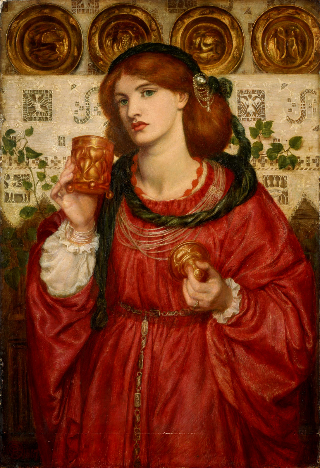 The Loving Cup by Dante Gabriel Rossetti, 1867