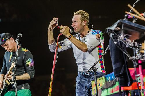 Coldplay Amsterdam ArenA mashup foto - Even een selfie voor thuis maken