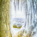 Lake Superior as viewed from inside ice cave - 2nd Place Scenics - Al Perry