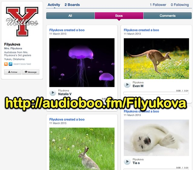 Audioboos by Mrs. Filyukova's Third Graders