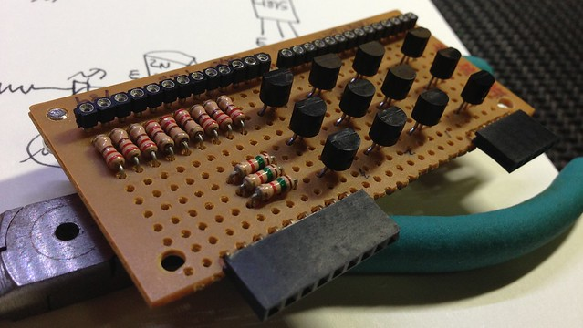 LED Cube3x3x3 Drive Board Top