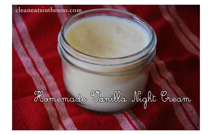 homemade vanilla night cream