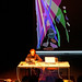 """Charles Céleste Hutchins performs """"Cloud Drawings"""" in the ATLAS Black Box theater by CU ATLAS"""