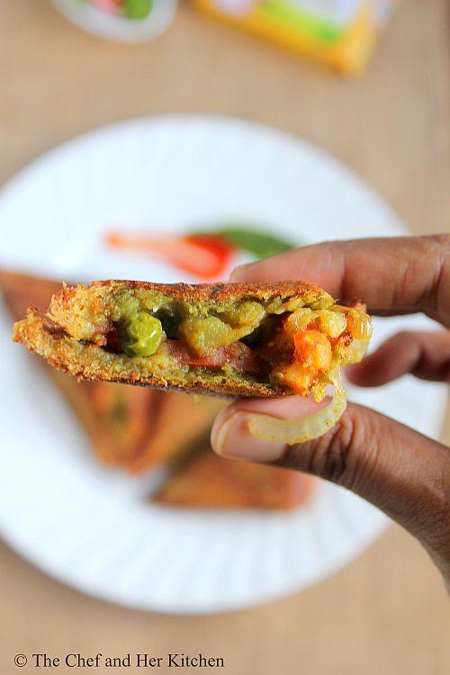 The Chef And Her Kitchen Bombay Masala Toast Sandwich Potato Stuffed Sandwich Recipe