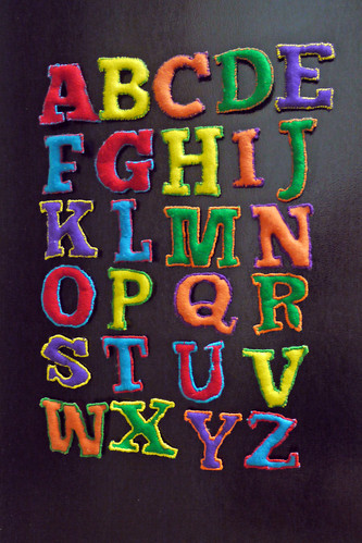 Finished Alphabet Magnets!
