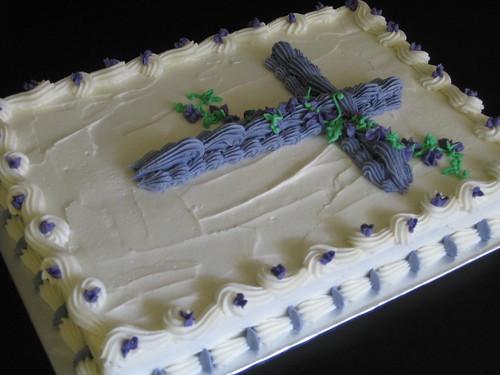 Communion Cross Sheet Cake