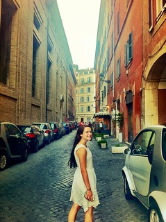 pretty sister in an Italian alley