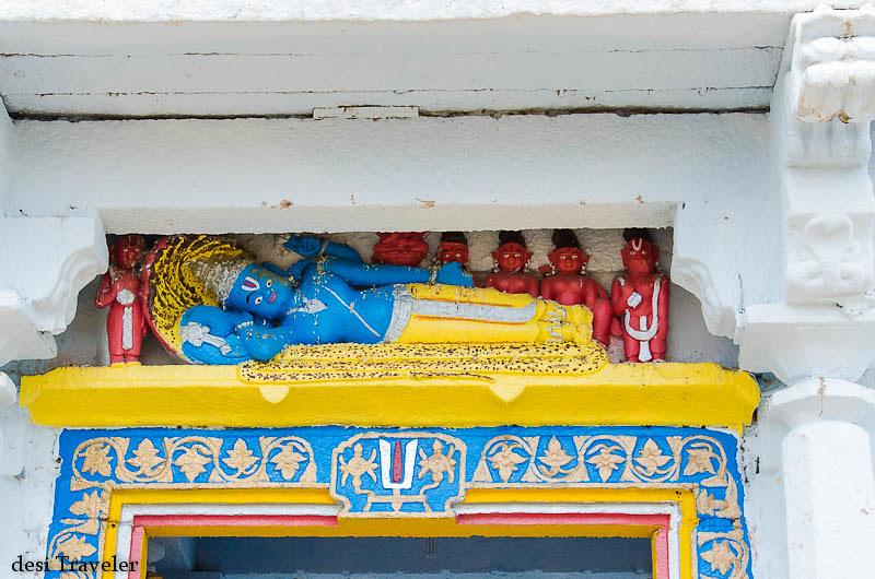 Vishnu on sheshanag Ammapalle temple shamshabad