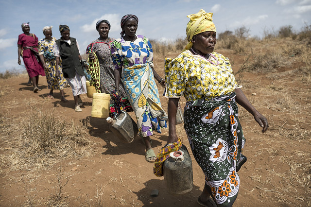 Women and children in Kenya must often spend up to 12 hours a day just collecting water. Sand dams greatly reduce this.