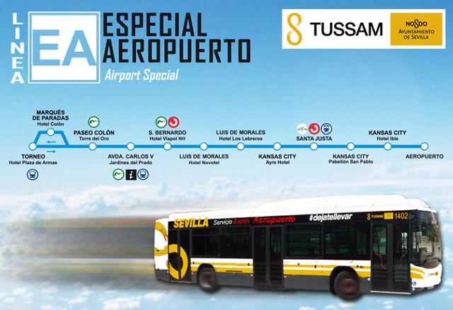 Saindo do Aeroporto de Sevilha