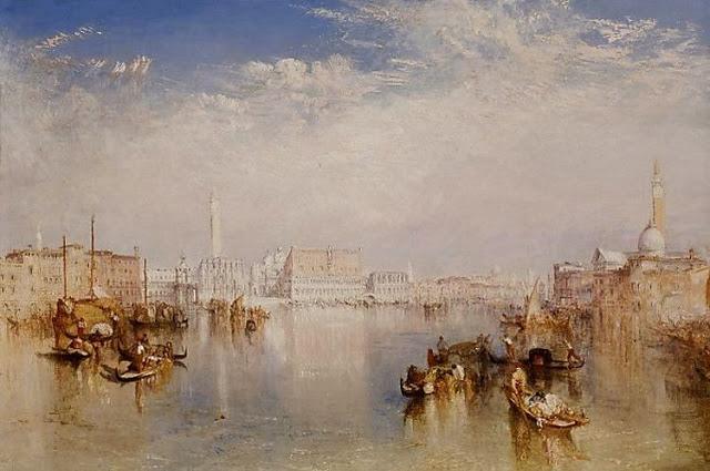 14. Vista de Venecia. Palacio Ducal y parte de San Giorgio. Joseph Mallord William Turner. Óleo sobre lienzo, 1841