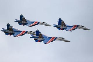 "Su-27 ""Russian Knights"" Aerobatic Team"