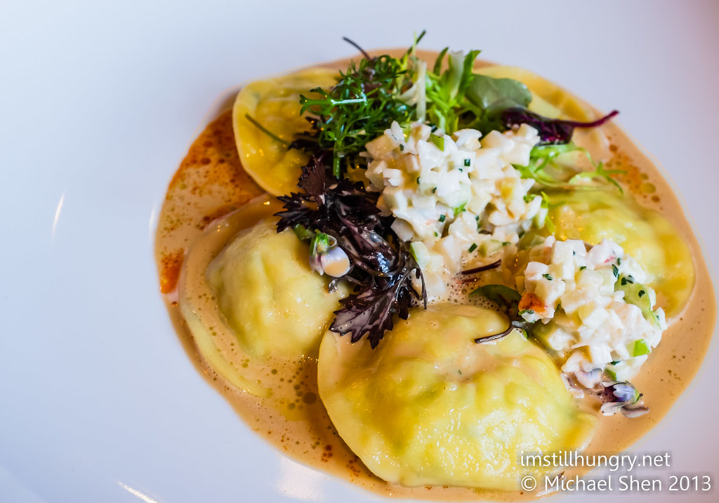 Lobster Ravioli w/bisque Ananas Bar & Brasserie