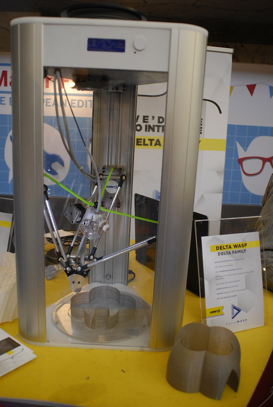 power wasp evo 3D printer @makerfaire rome