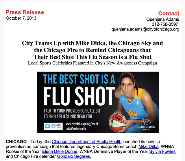 Chicago Department of Public Health Flu Shot Campaign 2013