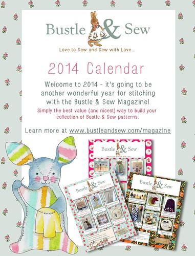 Bustle & Sew 2014 Calendar