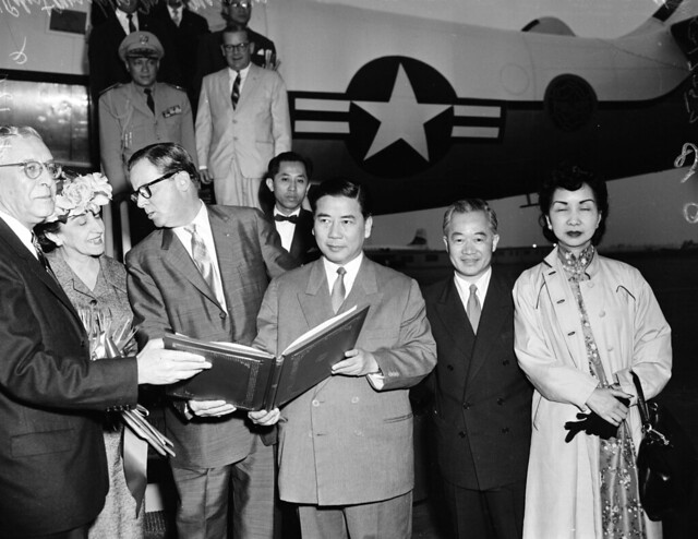 Arrival of President of Republic Vietnam, May 17 1957 - TT Ngô Đình Diệm đến Hoa Kỳ, 17-5-1957