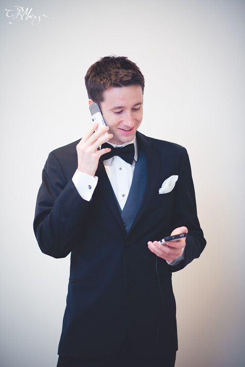 Groom-two-phones