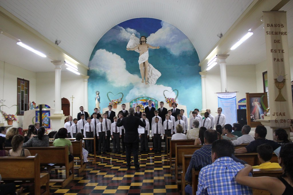 The San Francisco Boys Chorus performs in La Fortuna Church