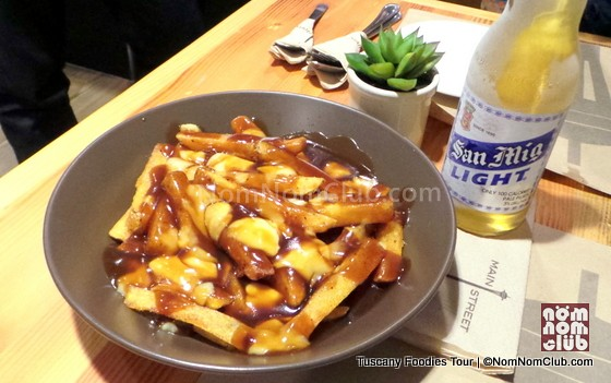 Poutine - thick-cut fries served with beef gravy and cheese curds