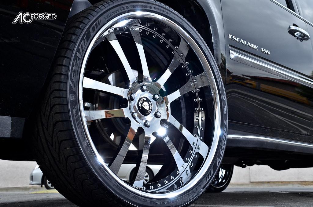 "26"" AC Forged 312 Chrome, black windows on 2013 Cadillac ..."