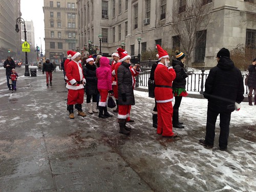 Santa Con participants, Brooklyn