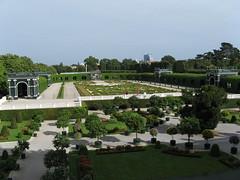 classic and modern (Schönbrunn park and City view)