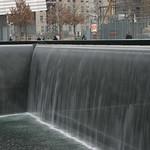 South tower water falls memorial