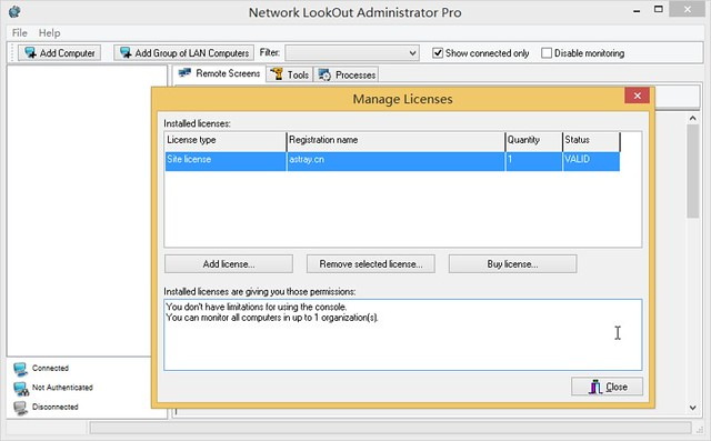 Network LookOut Administrator Professional 3.8.15 注册机
