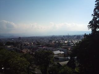 飯盛山より望む鶴ヶ城