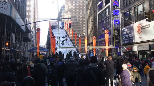 #SnapShot | And Down The #SuperBowl Toboggan Run They Come #SB48