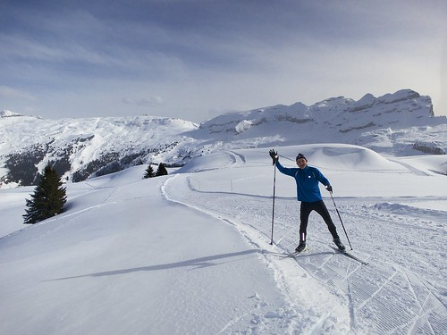 Flaine - cross country skiing