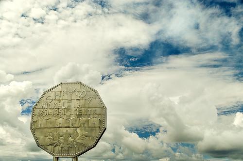 sky canada monument clouds landscape mine mining sudbury attraction nickle northernontario bignickle