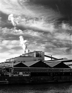 Factory at the top of Taisho Dori on Konica IR