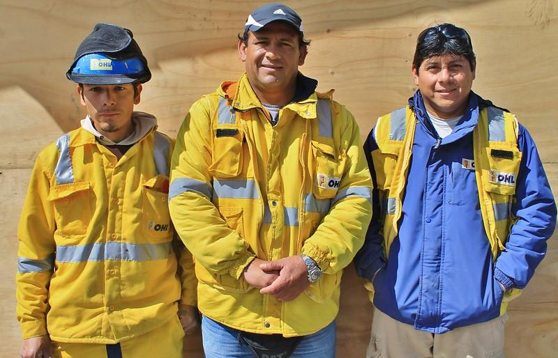 Workers at the Antamina mine
