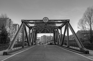 The Garnet Street bascule bridge, Shadwell Basin, London