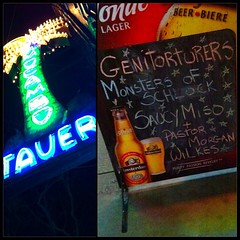 Happening right now! #genitorturers #saucymiso at the world famous #elmocambo
