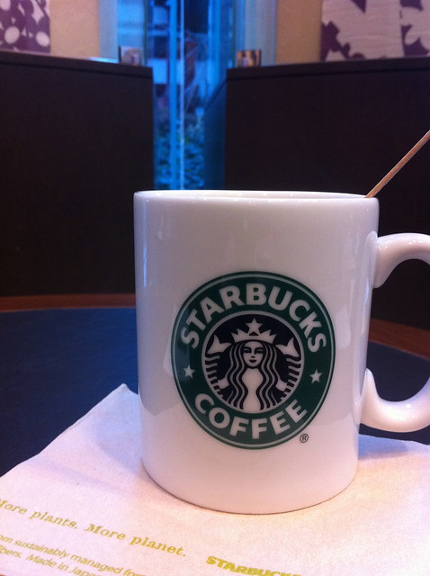 at Starbucks Coffee, Kyoto