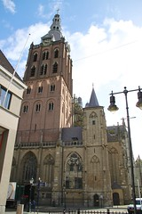 Clock Tower of St Janskathedraal in Den Bosch