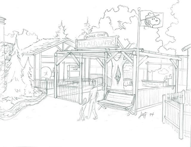 Beagle Scout Headquarters Sketch