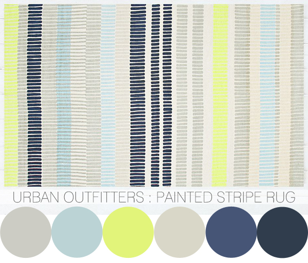 colour crush : Urban Oufitters geometric rugs | Emma Lamb