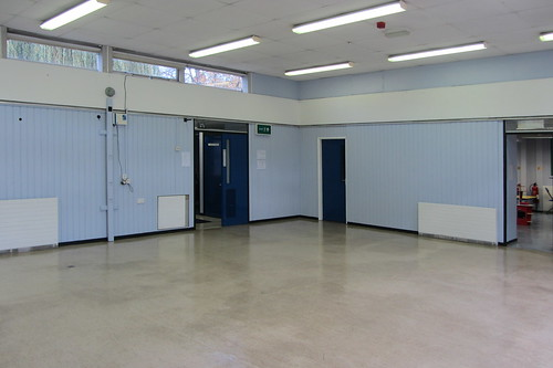 Ewing School hall (towards main entrance)