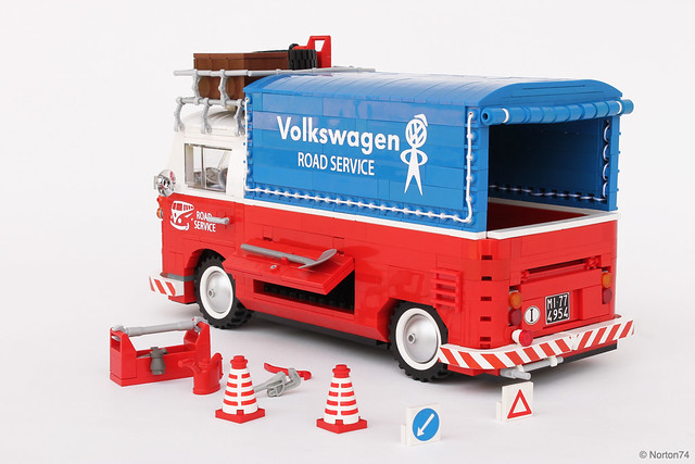 Volkswagen T1 Road Service Canvas Pick Up Lego Technic