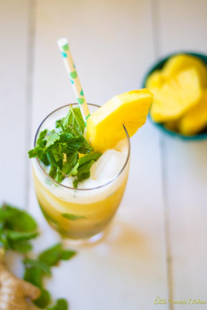 Pineapple Ginger Mojito via LittleFerraroKitchen.com