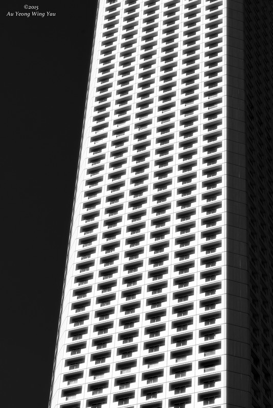 Skyscraper Windows And Balcony Art Abstract