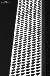 Skyscraper Windows And Balcony Art Abstract